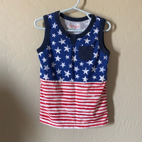 Cat & Jack Fourth of July tank top